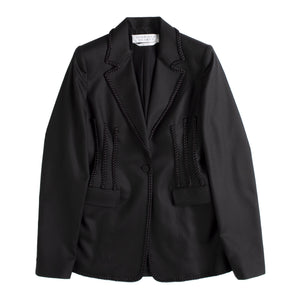 GABRIELA HEARST BRAIDED TRIM BLAZER BLACK