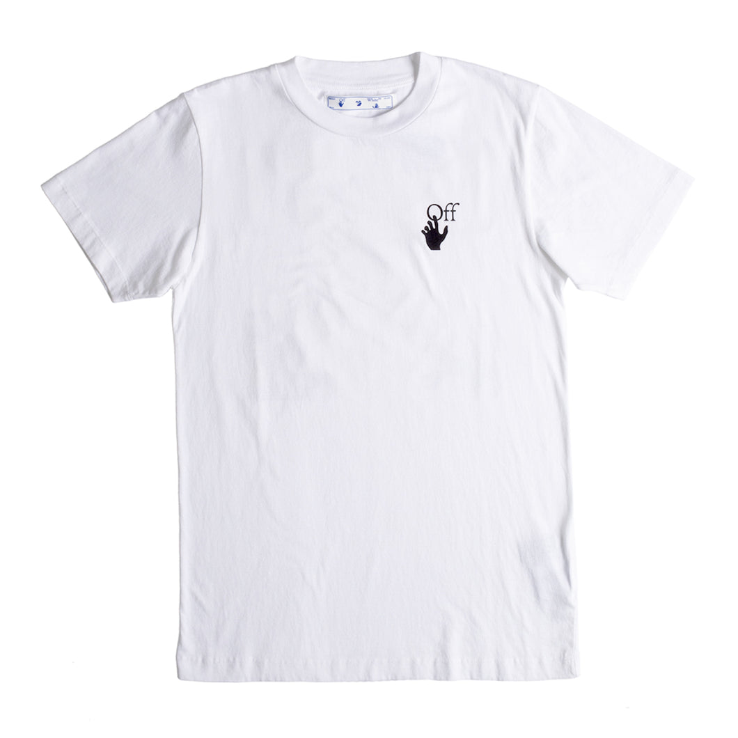 OFF-WHITE PASCAL ARROW SLIM TEE WHITE