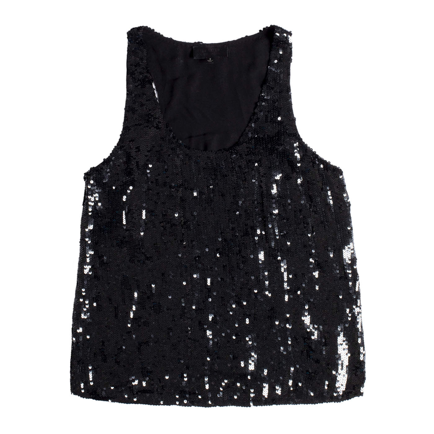 Load image into Gallery viewer, NILI LOTAN MARIA SEQUIN TANK BLACK