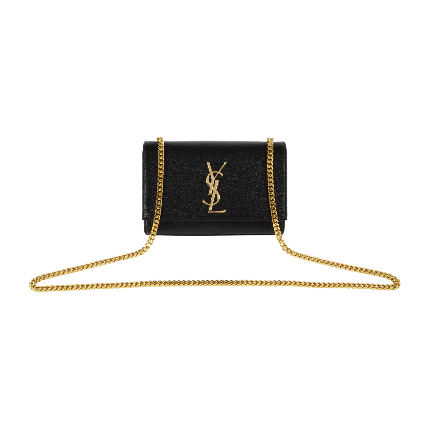 "Load image into Gallery viewer, SAINT LAURENT ""KATE"" SMALL CHAIN BAG BLACK"