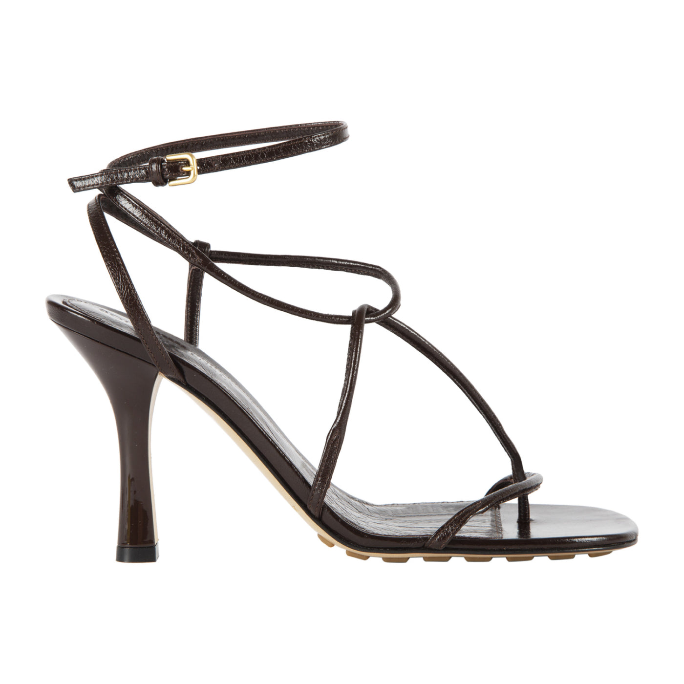 Load image into Gallery viewer, BOTTEGA VENETA BV LINE SANDALS BROWN