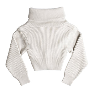 "JACQUEMUS ""RISOUL"" KNIT ZIP HENLEY NEUTRAL"