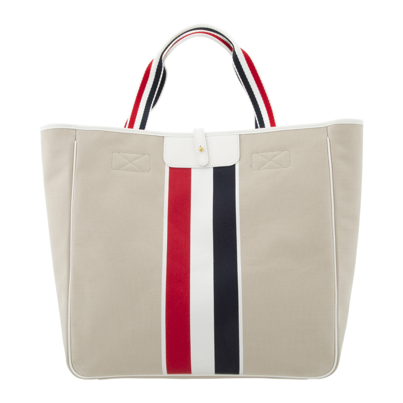 Load image into Gallery viewer, THOM BROWNE HUNTING TOTE NEUTRAL