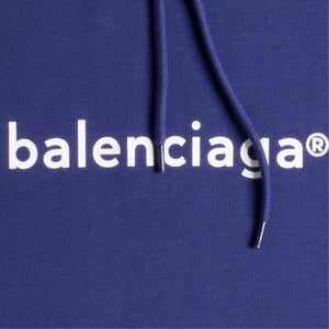 BALENCIAGA COPYRIGHT MEDIUM FIT HOODIE BLUE
