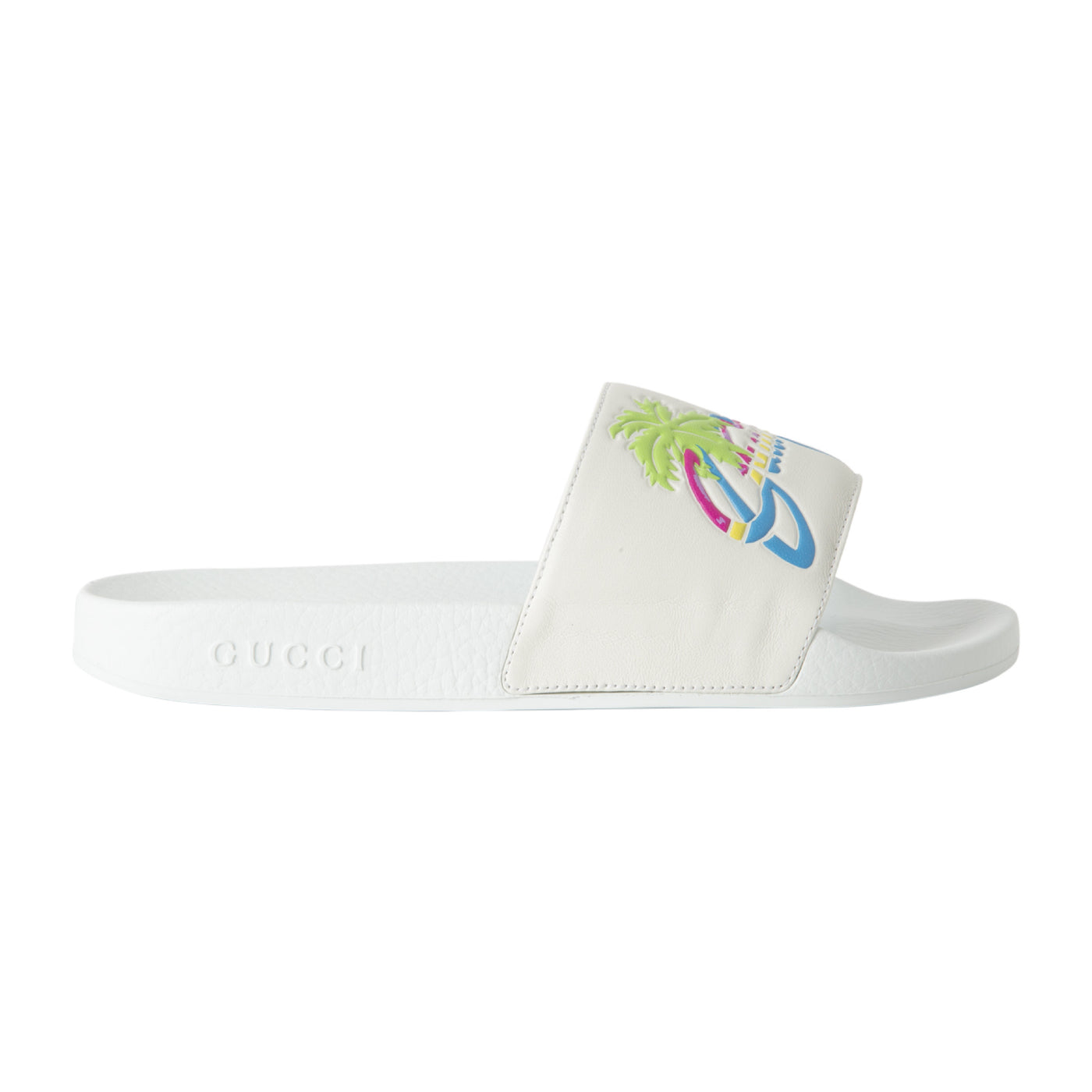 "Load image into Gallery viewer, GUCCI ""PURSUIT"" POOL SLIDE WHITE"