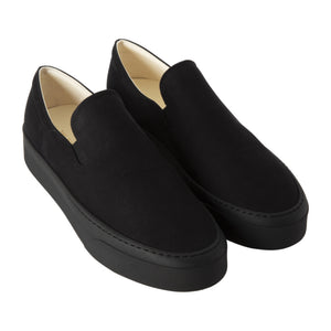 THE ROW SLIP-ON SNEAKERS BLACK