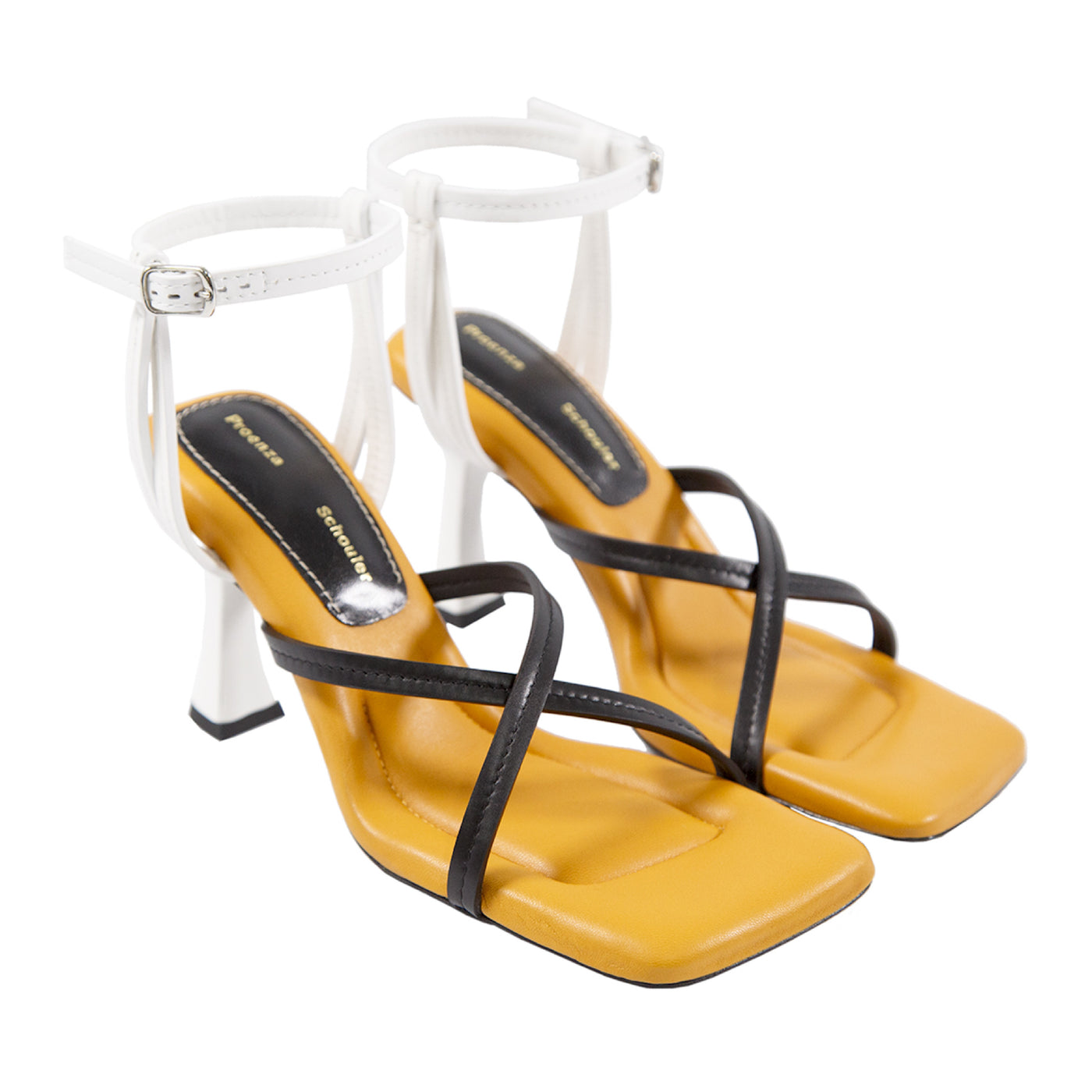 Load image into Gallery viewer, PROENZA SCHOULER SQUARE-TOE SANDALS ORANGE