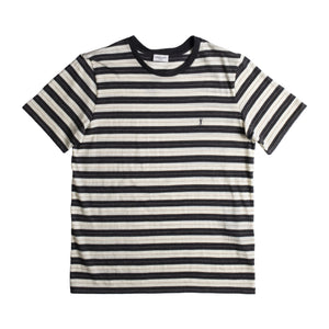 SAINT LAURENT STRIPED T-SHIRT WHITE