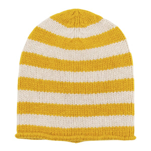 THE ELDER STATESMAN STRIPED CAP YELLOW