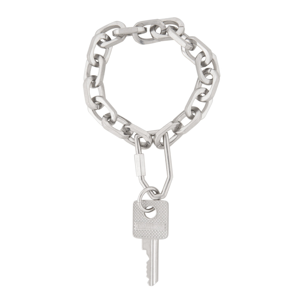OFF WHITE KEY CHAIN BRACELET SILVER