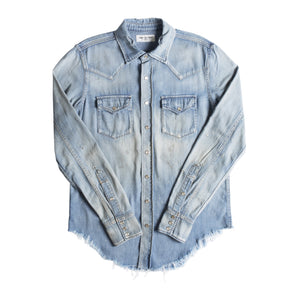 SAINT LAURENT VINTAGE DENIM SHIRT BLUE