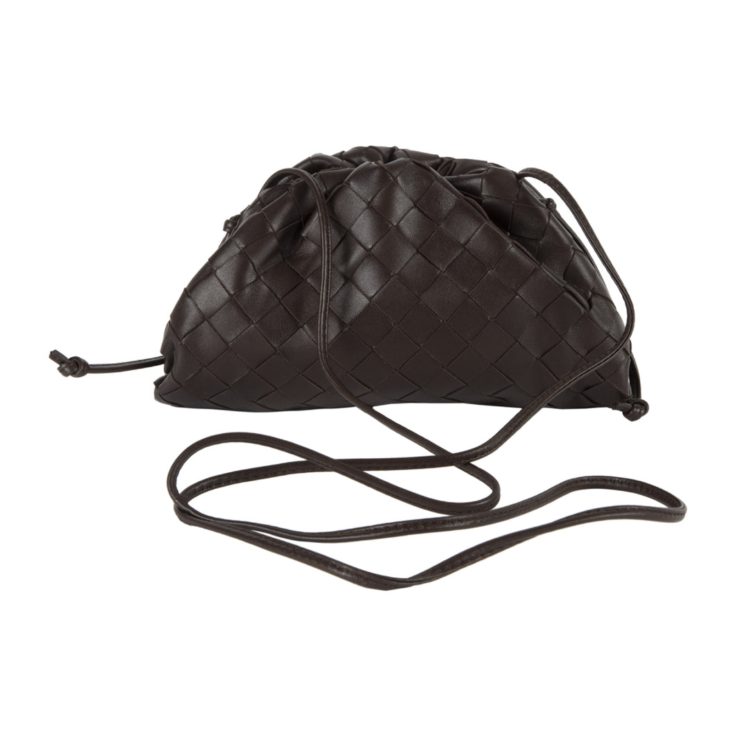 BOTTEGA VENETA THE MINI POUCH BROWN