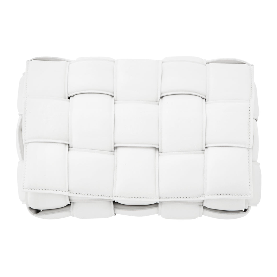 BOTTEGA VENETA PADDED CASSETTE BAG WHITE