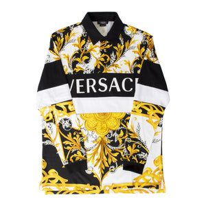 VERSACE PRINTED POLO SHIRT MULTI