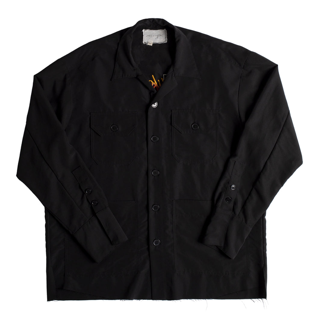 GREG LAUREN SOUVENIR CARDIGAN BLACK