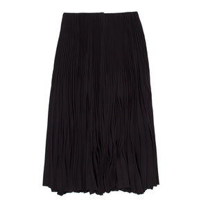 BALENCIAGA PLEATED SKIRT BLACK