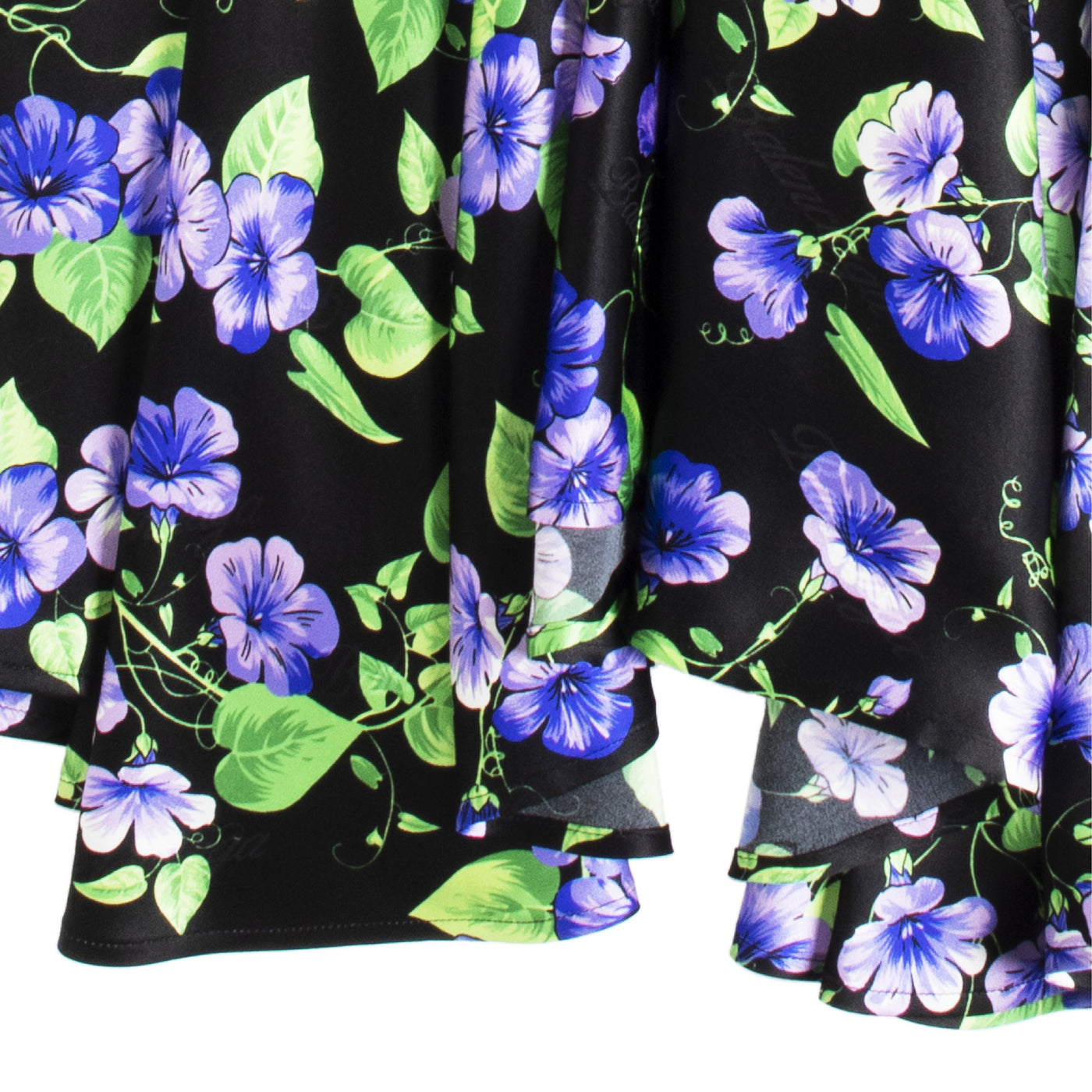 Load image into Gallery viewer, BALENCIAGA FLORAL SILK JACQUARD SKIRT BLACK