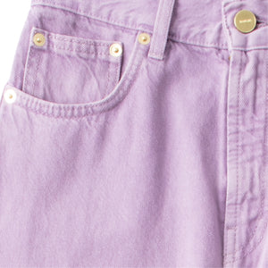 JACQUEMUS COATED-COTTON JEANS PURPLE