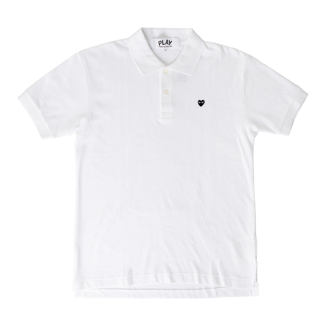 COMME DES GARCONS PLAY POLO T-SHIRT WHITE