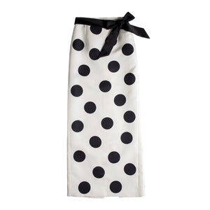 SAINT LAURENT POLKA DOT SKIRT WHITE