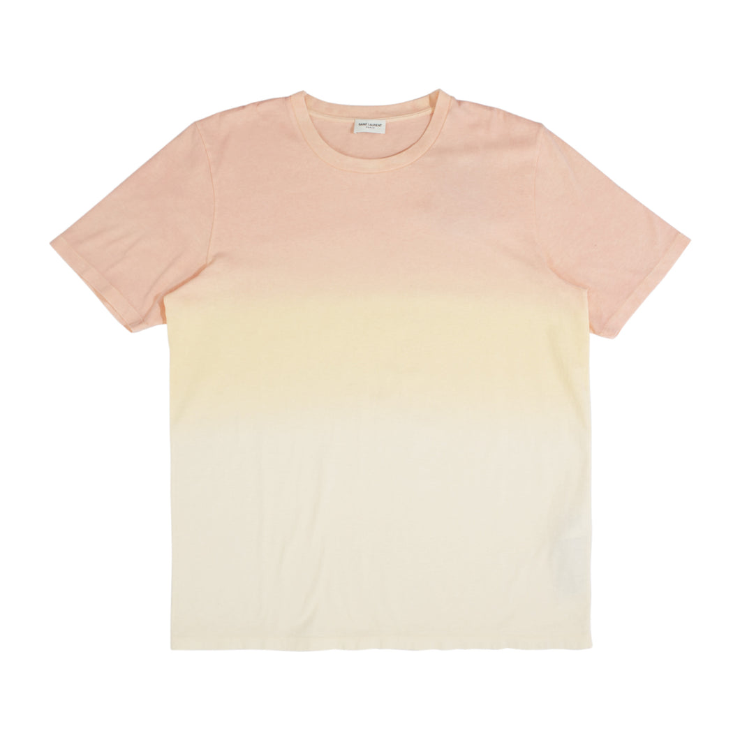 SAINT LAURENT DIP DYE T-SHIRT ORANGE