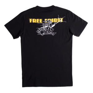 OFF-WHITE FREE WIZARD SLIM TEE BLACK