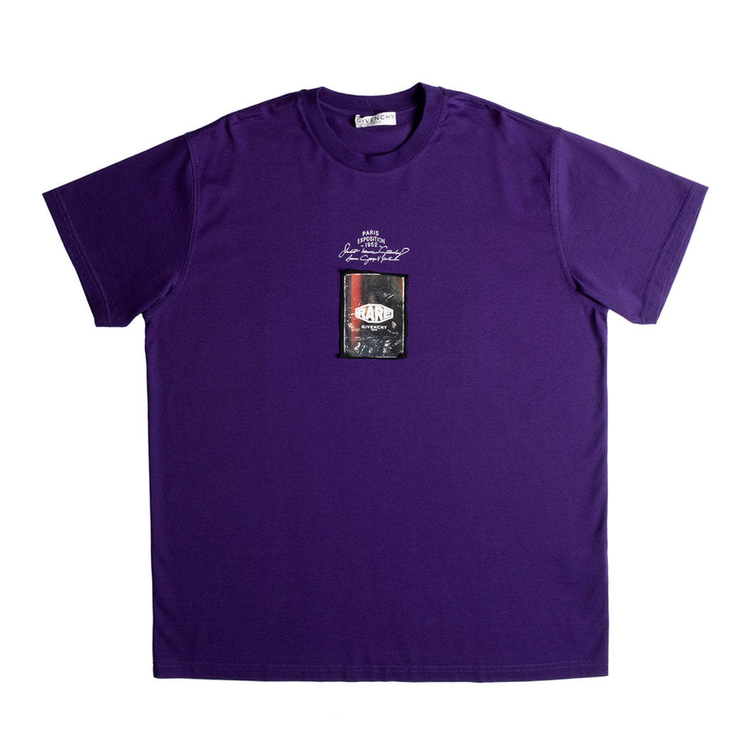 GIVENCHY OVERSIZE FIT T-SHIRT PURPLE