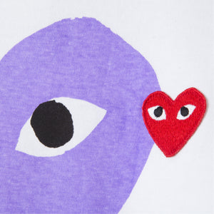 COMME DES GARCONS DOUBLE-HEART T-SHIRT PURPLE