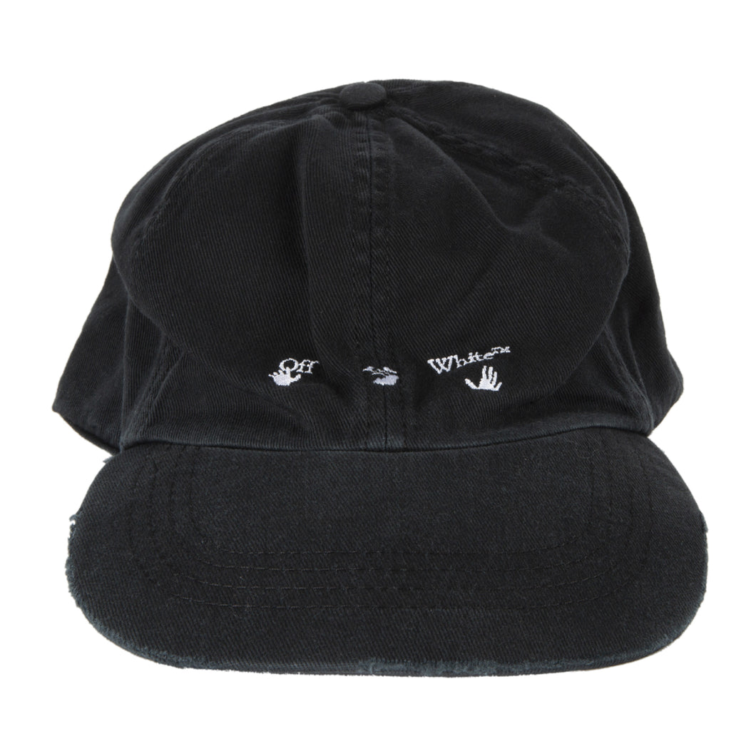 OFF-WHITE LOGO BASEBALL CAP BLACK