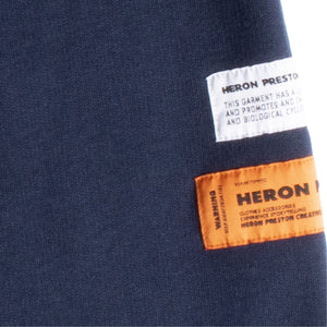HERON PRESTON SHORT LEG UNIFORM SWEATPANTS BLUE