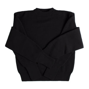 BALENCIAGA OVERLAY SWEATER BLACK