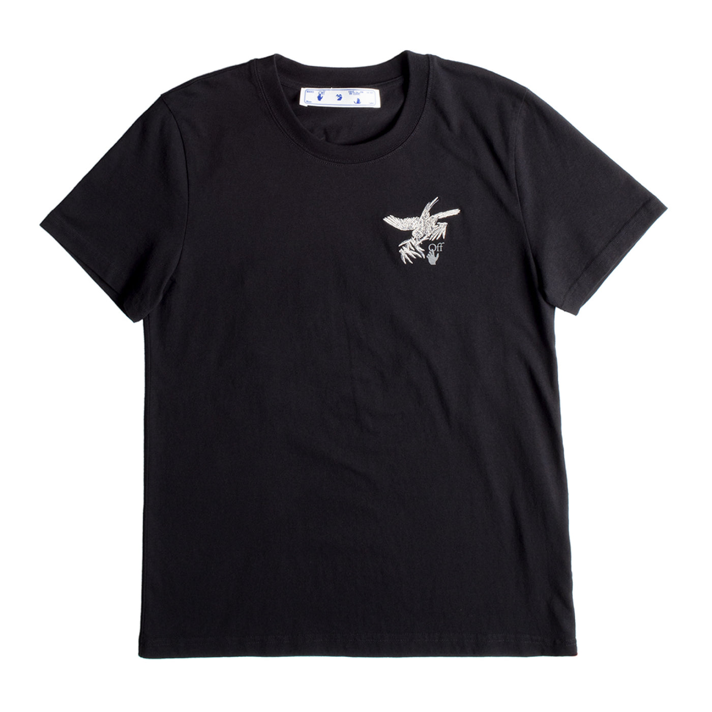 Load image into Gallery viewer, OFF-WHITE EMBROIDERED BIRD TEE BLACK
