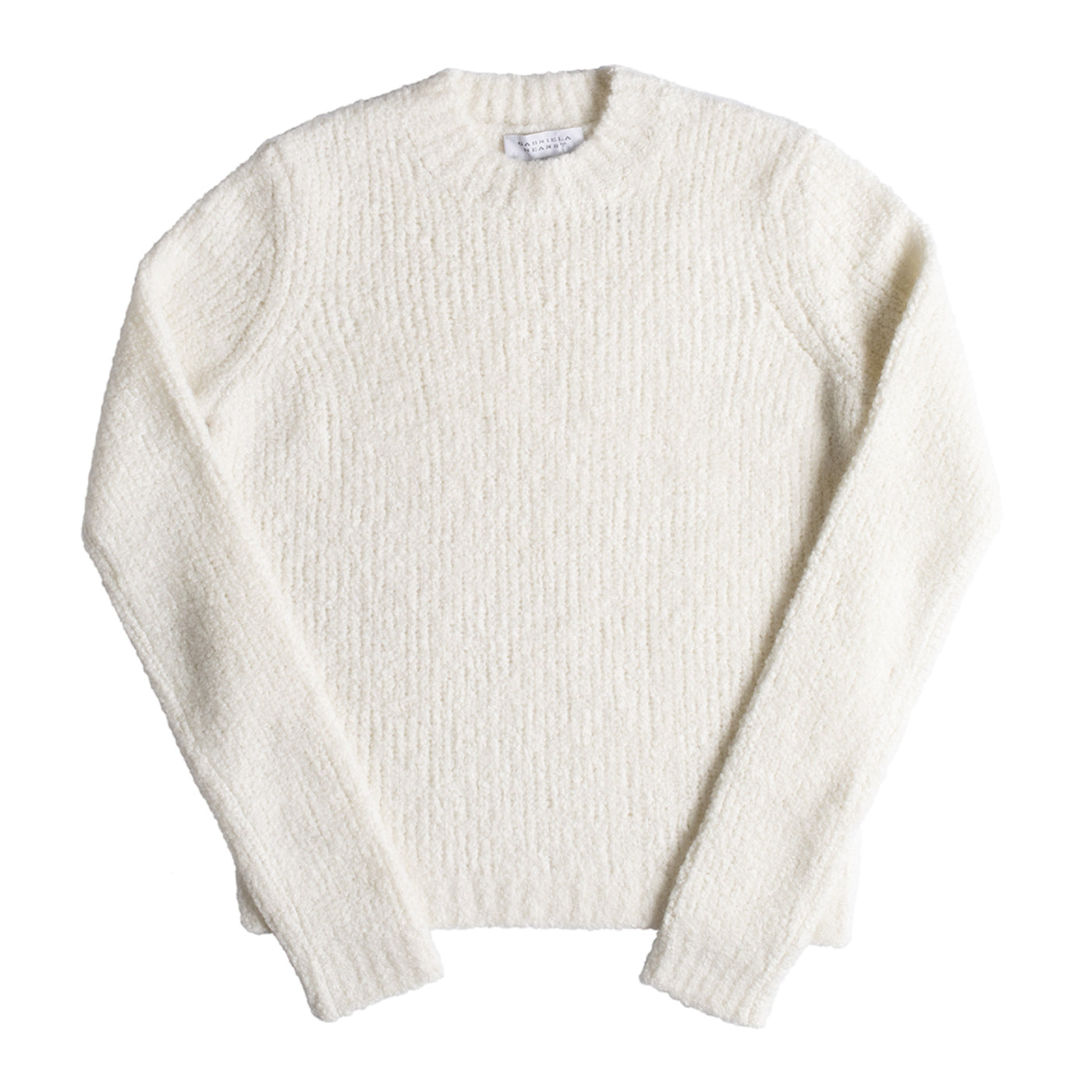 Load image into Gallery viewer, GABRIELA HEARST PHILIPPE CASHMERE BOUCLE SWEATER NEUTRAL