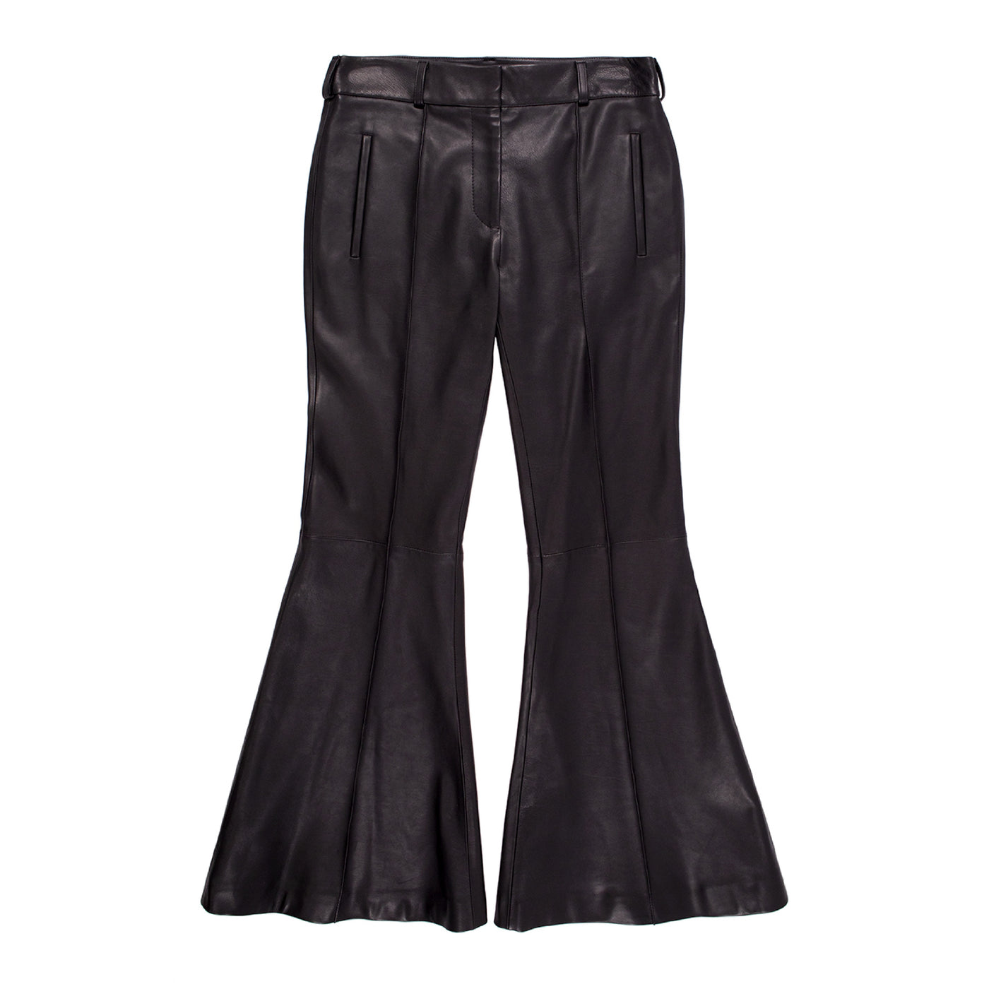 Load image into Gallery viewer, KHAITE FLARE-LEG PANTS BLACK