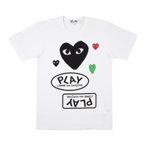 COMME DES GARCONS PLAY T-SHIRT WHITE