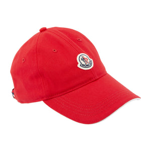 MONCLER BERRETTO BASEBALL CAP RED