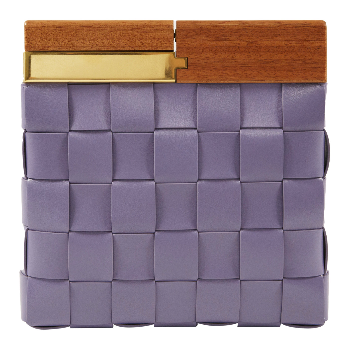 Load image into Gallery viewer, BOTTEGA VENETA WOVEN LEATHER CLUTCH PURPLE