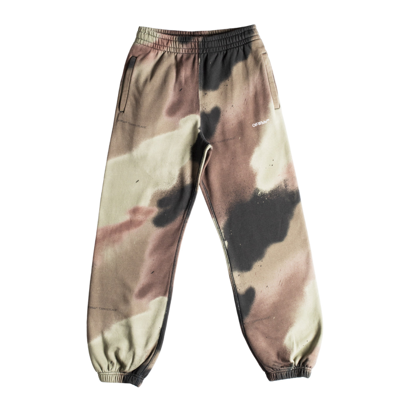 Load image into Gallery viewer, OFF-WHITE CAMO STENCIL SHORTEN SWEATPANT GREEN