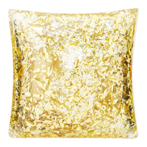 BOTTEGA VENETA BORSA PLEXI METALLIC CLUTCH GOLD
