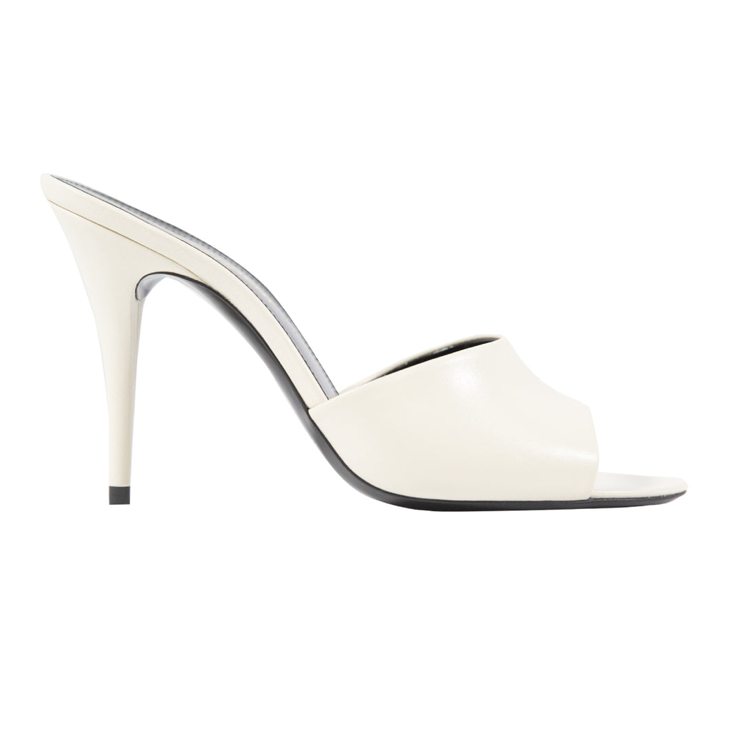 SAINT LAURENT LA 16 MULE WHITE