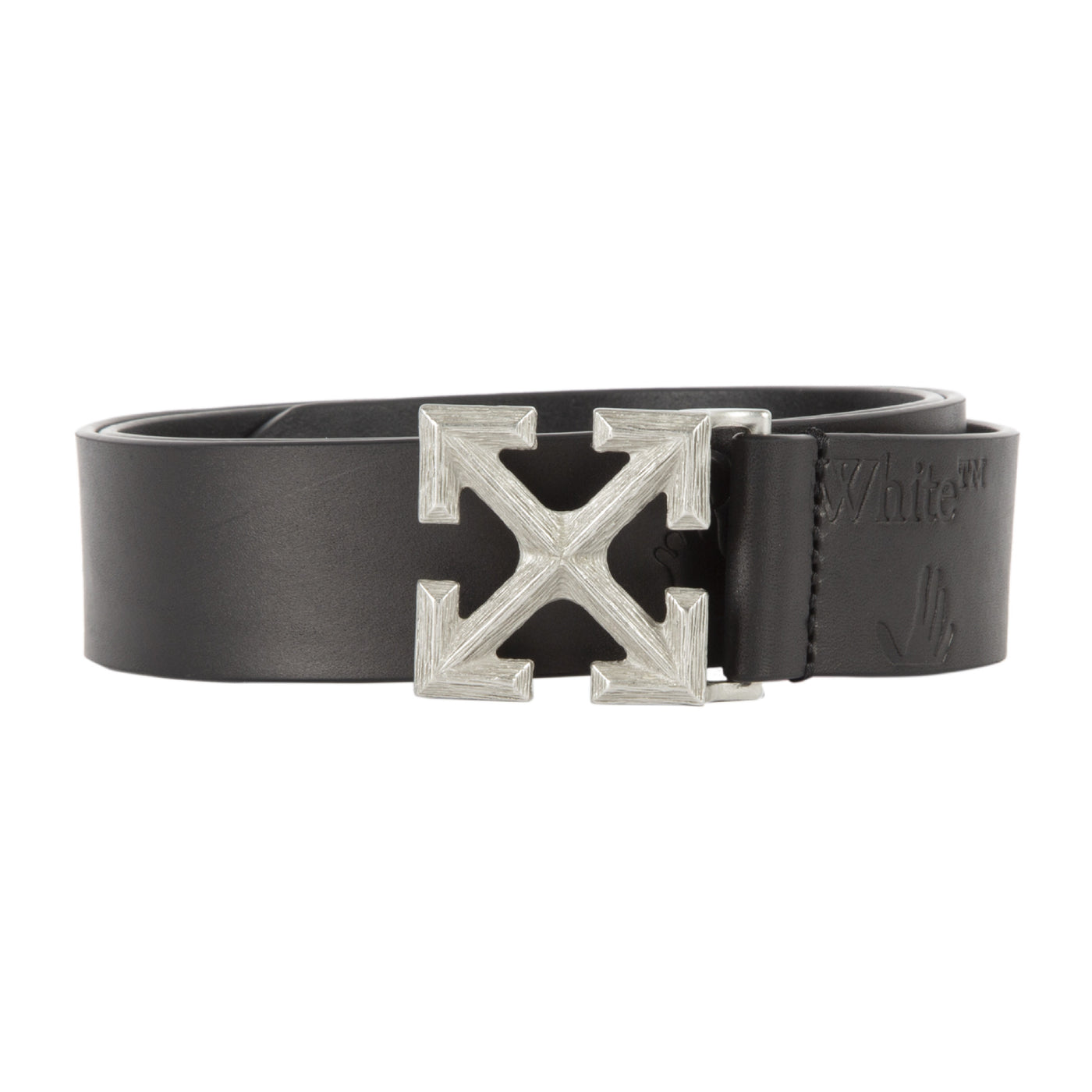 Load image into Gallery viewer, OFF-WHITE ARROW LEATHER BELT BLACK