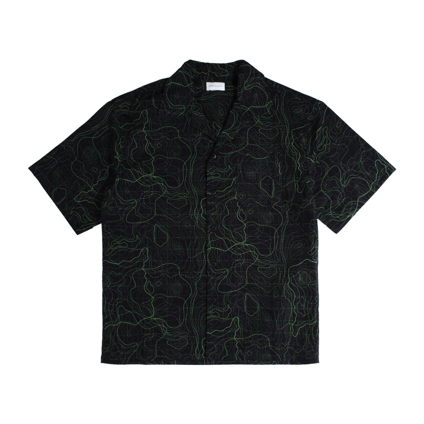 Load image into Gallery viewer, JOHN ELLIOTT CAMP SHIRT BLACK