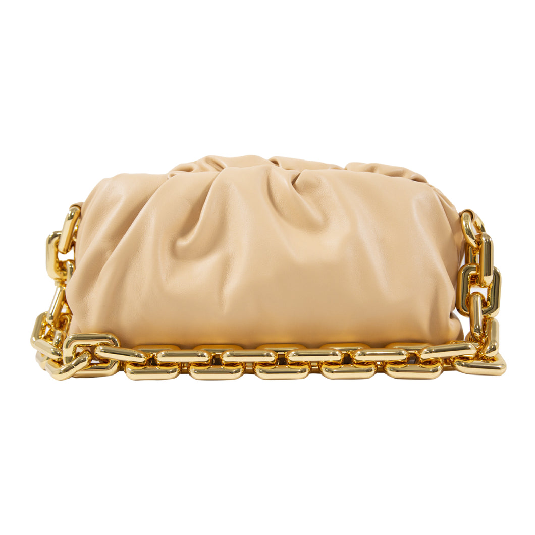 BOTTEGA VENETA THE CHAIN POUCH NEUTRAL
