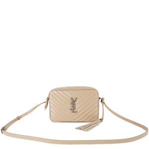 SAINT LAURENT MEDIUM QUILTED SHOULDER BAG NEUTRAL