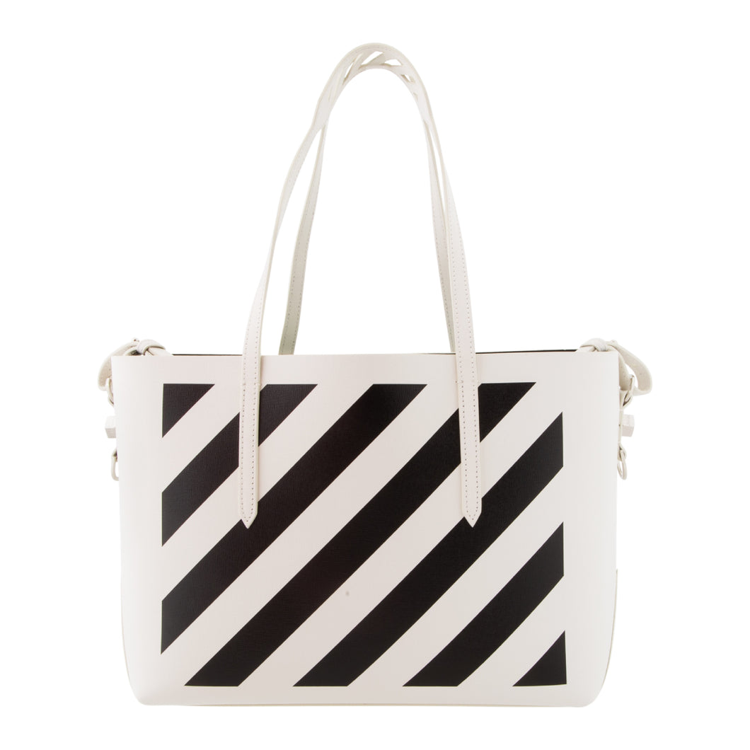 OFF-WHITE STRIPE SHOPPER BAG WHITE