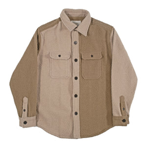 AIME LEON DORE BOILED WOOL OVERSHIRT NEUTRAL