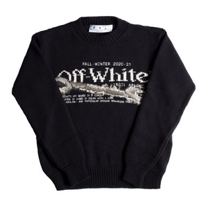 OFF-WHITE PASCAL TOOL CREWNECK BLACK