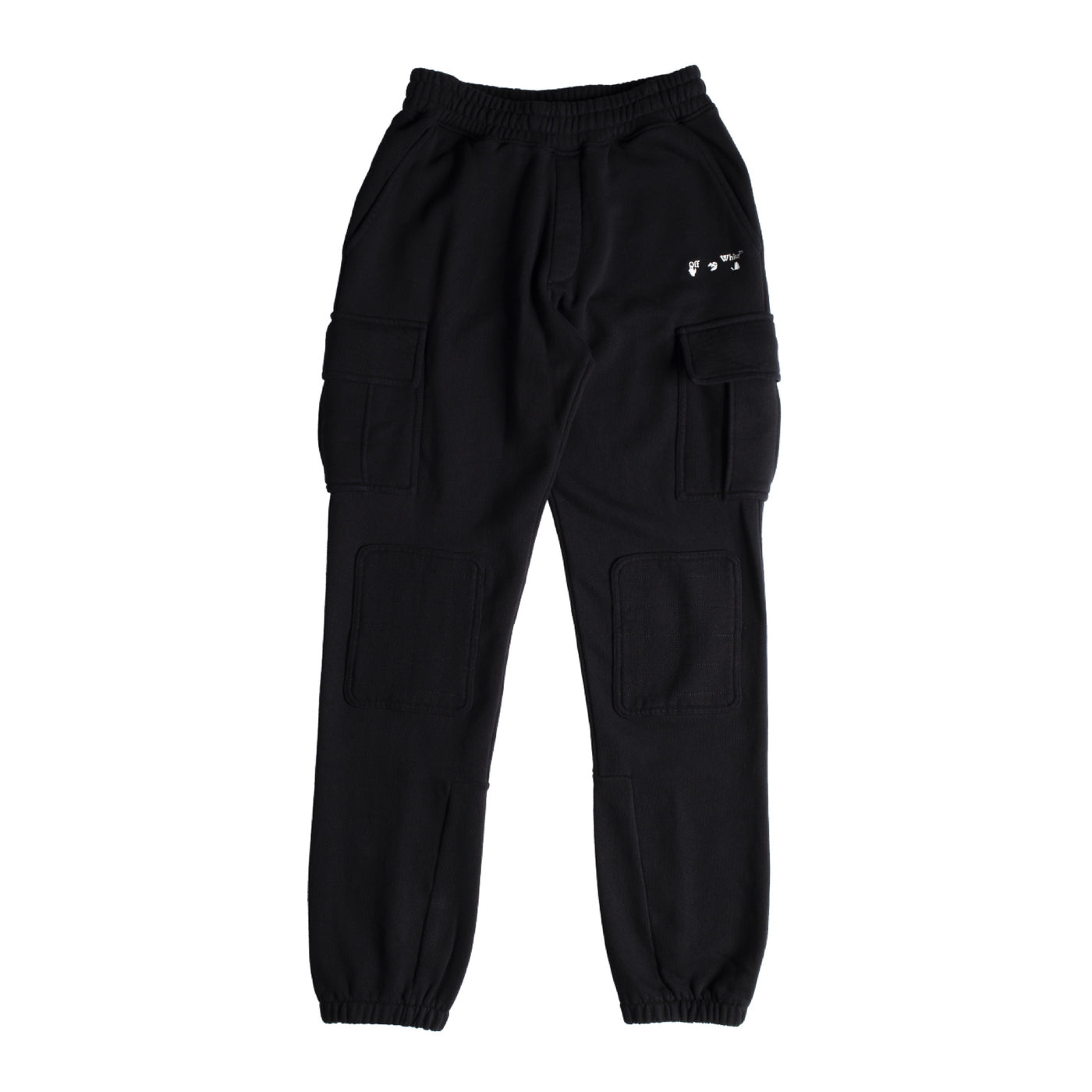 Load image into Gallery viewer, OFF-WHITE LOGO CARGO SWEATPANT BLACK