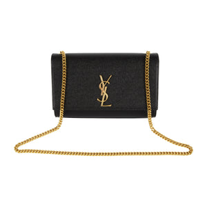 "SAINT LAURENT ""MONOGRAM"" HANDBAG BLACK"