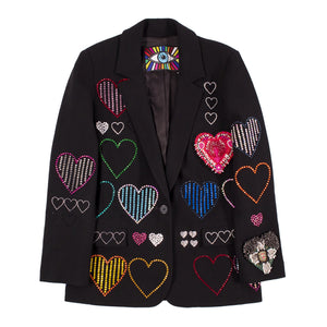 LIBERTINE HEARTS LONG BLAZER BLACK